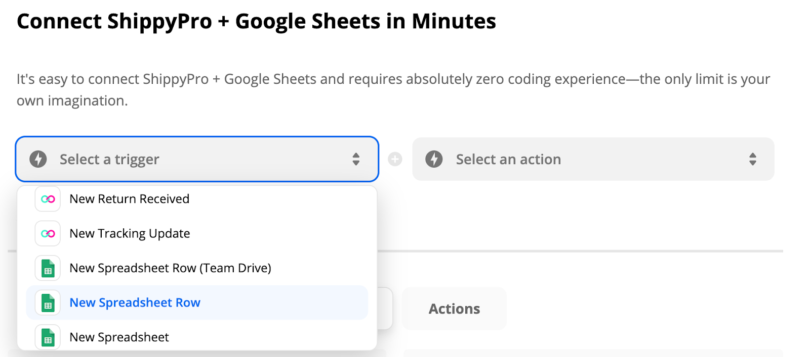 ShippyPro + Google Sheets